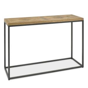 Ravi Rustic Oak Console Table angled
