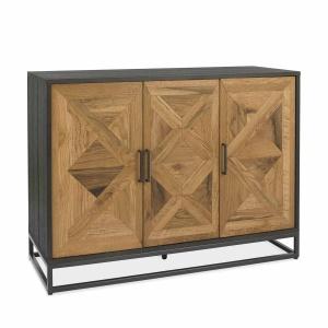 Ravi Rustic Oak Narrow Sideboard angled