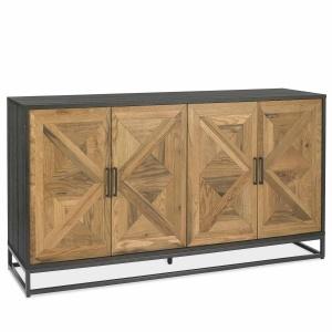 Ravi Rustic Oak Wide Sideboard angled