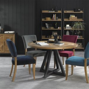 Ravi Rustic Oak dining collection