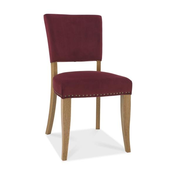 Ravi Upholstered Dining Chair Crimson angled