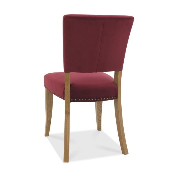 Ravi Upholstered Dining Chair Crimson back