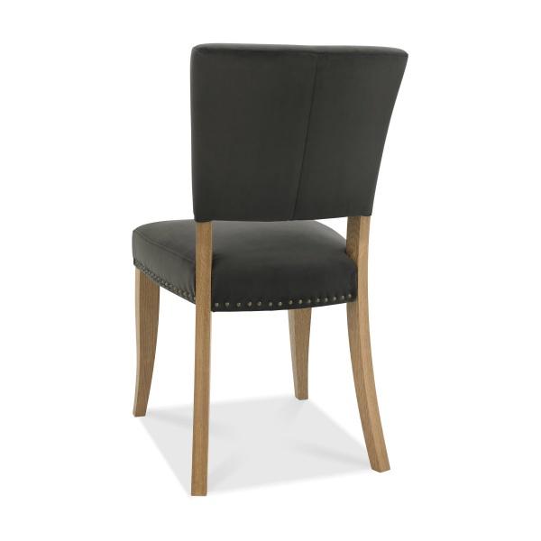 Ravi Upholstered Dining Chair Gun Metal back