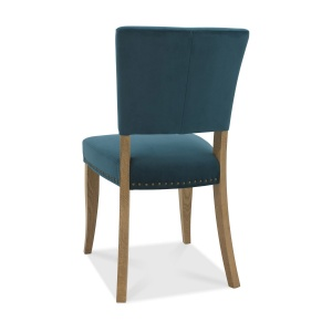 Ravi Upholstered Dining Chair Sea Green back