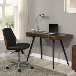 Poise 211 Office Chair in Walnut-Black 2