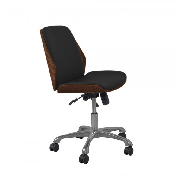 Poise 211 Office Chair in Walnut-Black