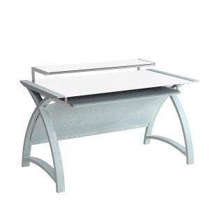 Poise Computer Desk in Grey Ash