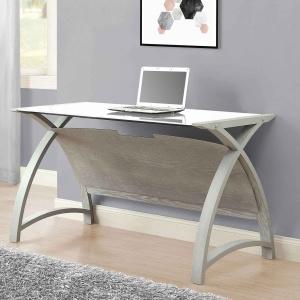 Poise 130cm Table-Laptop Desk in Grey Ash