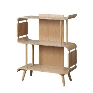 Poise Low Bookcase in Oak