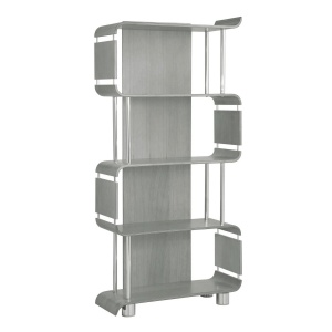 Poise Tall Bookcase in Grey