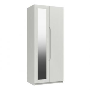 Somerton 2 Door Wardrobe with Mirror in white gloss