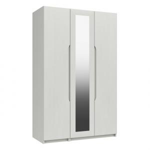Somerton 3 Door Wardrobe with Mirror in white gloss