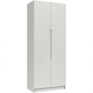 Somerton Tall 2 Door Wardrobe in white gloss front