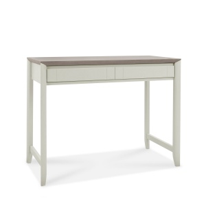 Ibsen Grey Desk with drop down drawer front angled